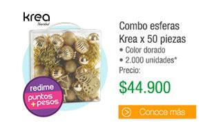 Combo esferas Krea x 50 piezas - Color dorado 2.000 unidades - PRECIO: $44.900