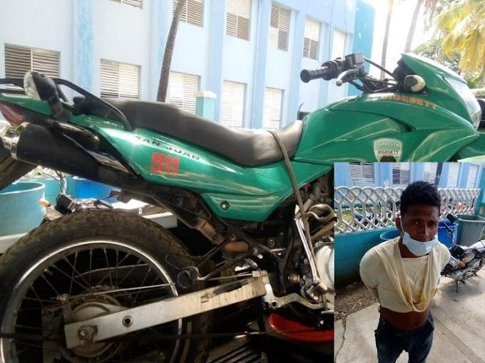 APRESAN HOMBRE ACUSADO DE ROBAR MOTOCICLETA DE LA DIGESETT EN SAN JUAN