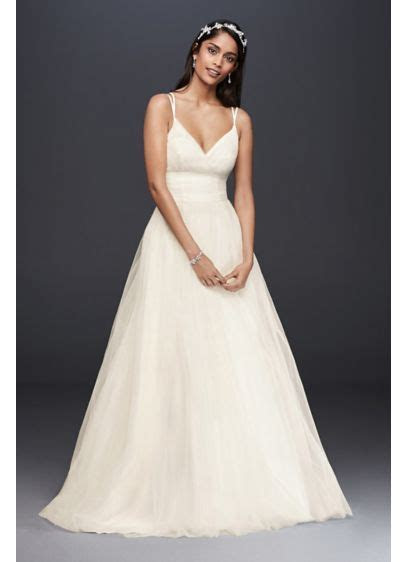 Pleated Tulle Ball Gown Wedding Dress   David's Bridal