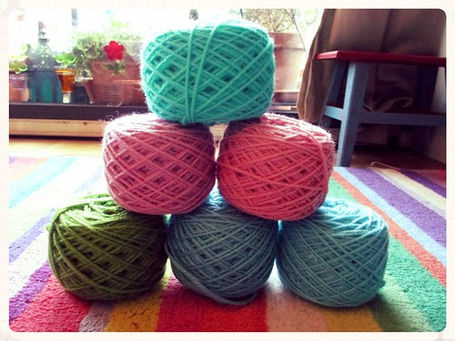 Bergere de France yarn cakes