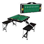 Picnic Time 811-00-175-225-0 University of Iowa Hawkeyes Digital Print Portable Folding Picnic Table with Four Seats Black