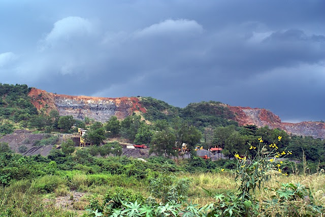 Stone quarries on the Mahape - Shil Phata road