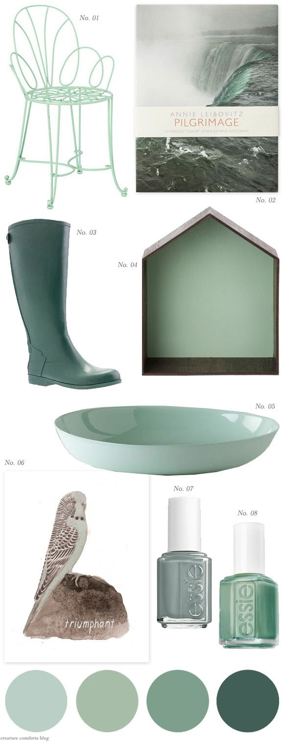 Color Crush: Dusky Mint & Sage | shared on Creature Comforts blog