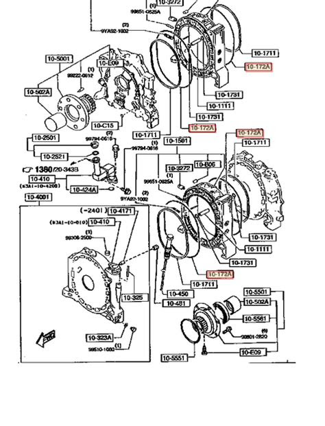 GENUINE MAZDA Rx7 RX-7 12A 13B ROTARY OUTER WATER JACKET