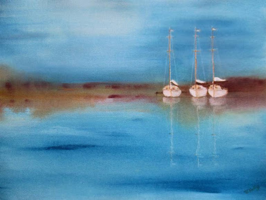 Yacht Haven Painting by Valerie Anne Kelly | Saatchi Art