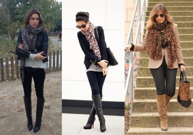04_Look para o casual day_jeans preto e bota de cano alto_look para trabalhar_como usar bota_pashmina de oncinha_lenço de oncinha