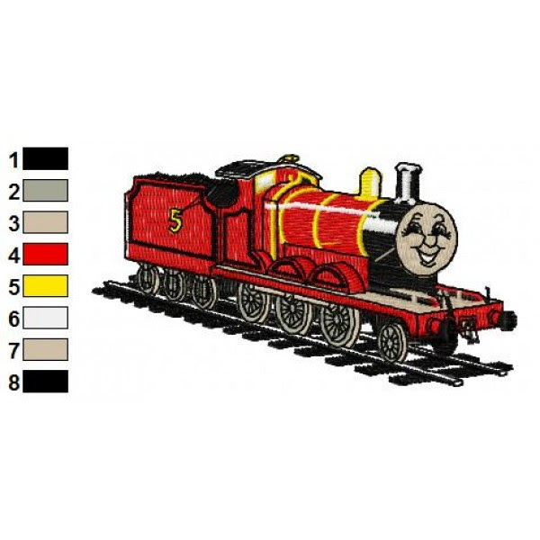 Thomas The Train James Embroidery Design 03