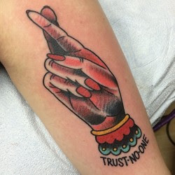 Trust No One But Yourself Tattoo
