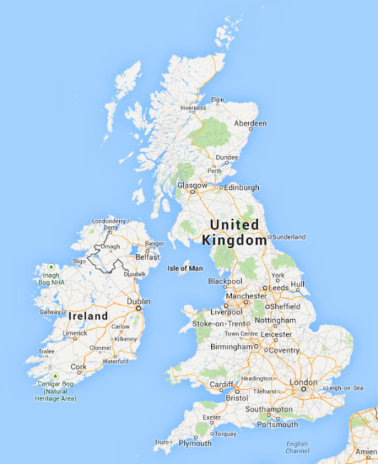 Did Google Maps Lose England, Scotland, Wales & Northern Ireland?