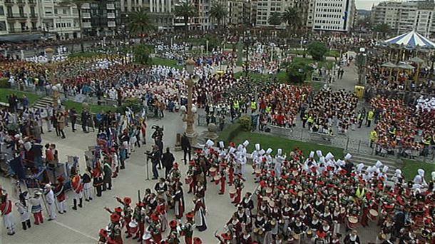 Resultado de imagen de tamborrada de san sebastián 2018
