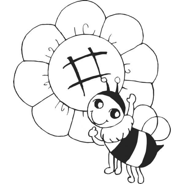 Disegno Di Lape Sul Fiore Da Colorare Per Bambini