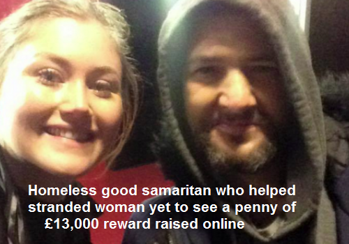 Homeless charity blocks money donated by the public to homeless hero