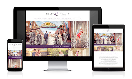 New Custom Designed WordPress Website for Holly Ireland Photography