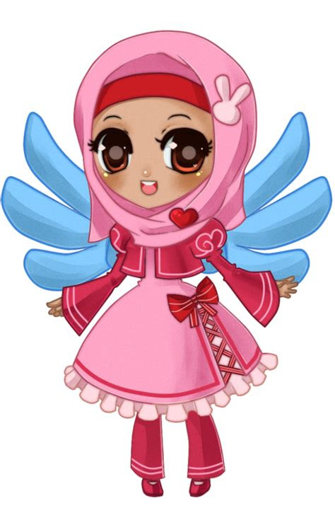 catatan kecil kartun muslimah comel  cantik