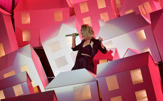 Katy Perry Performs 'Chained To The Rhythm' In A Village Of Houses at 2017 BRIT Awards | 101.5 The River
