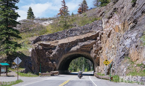 "Ducking through tunnels on the ""Million Dollar Highway"" (U.S. Route 550)."