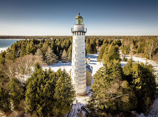Cana Island Lighthouse by Randy Scherkenbach