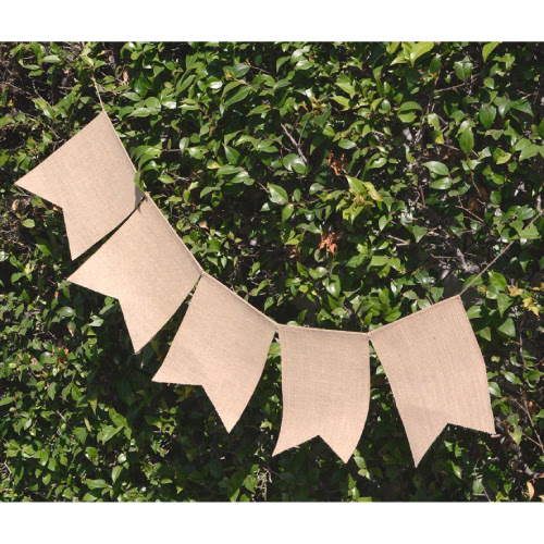 "8"" x 10"" Swallow Tail Burlap Banner - 5 pack"