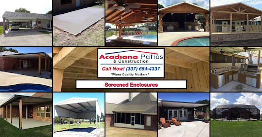 Screened Enclosures • Acadiana Patios • Elite Dealer Since 1985