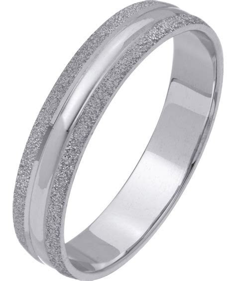 Buy 9ct White Gold Frosted Edge Ring   4mm at Argos.co.uk