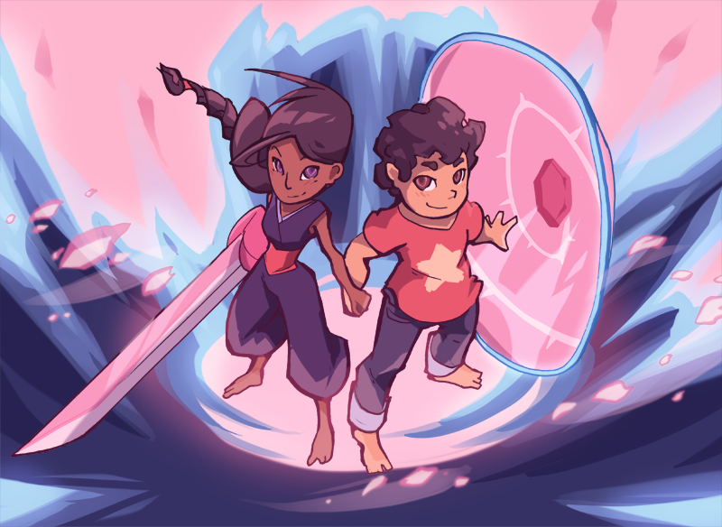My long overdue Stevonnie print! I'll have it for sale at the next con I get into :l
