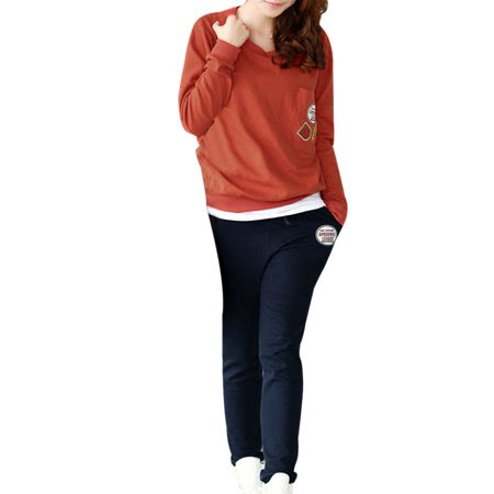 Women's Long DolSleeve Sweatshirt w Elastic Waist Pants Set (Size S \/ 4)