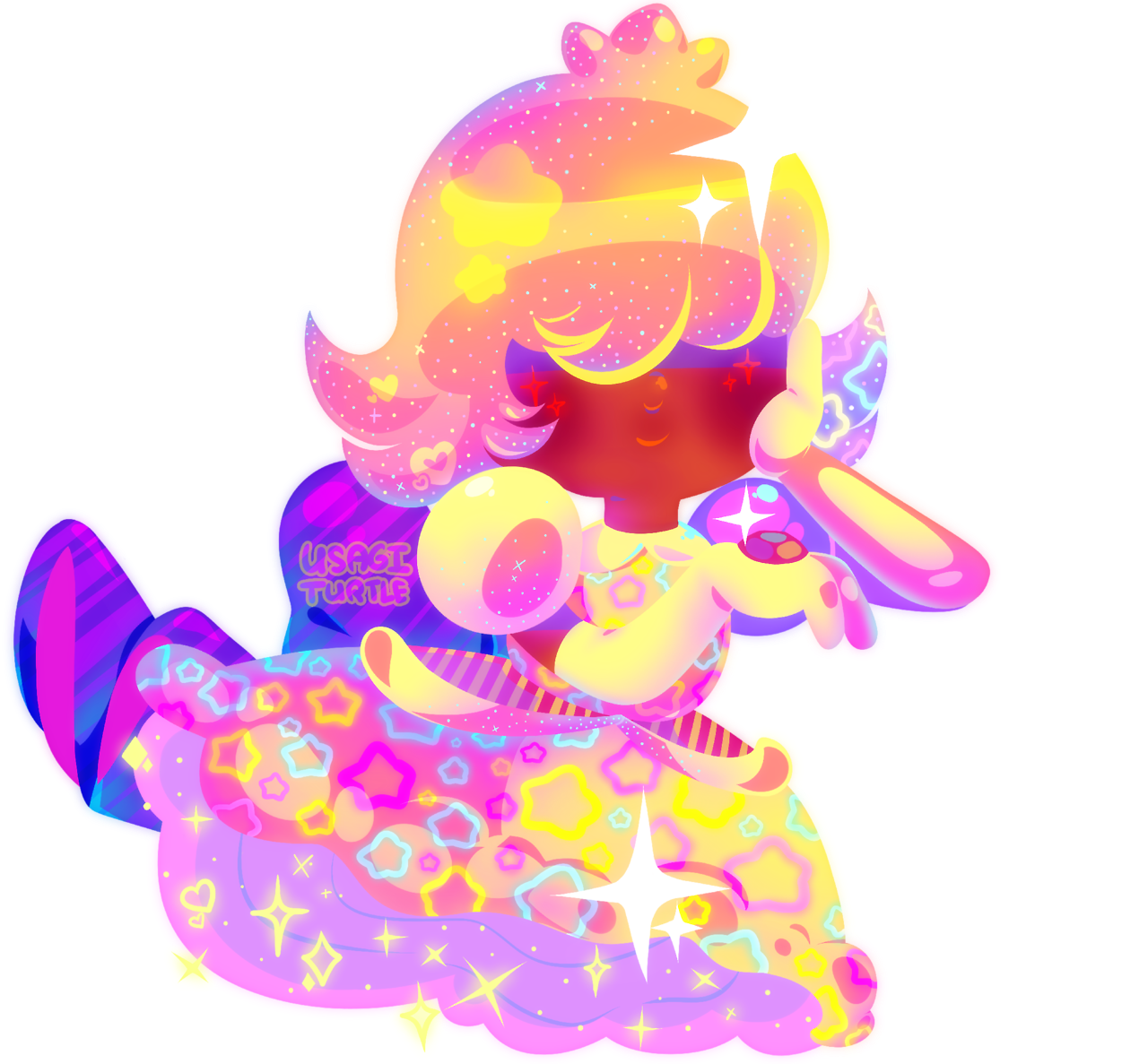 i wanted to draw the princess daisy sapphire!! i liked the new gem's designs!