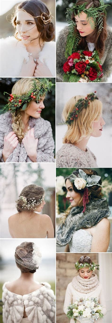 Best 25  Winter Wedding Hairstyles ideas on Pinterest