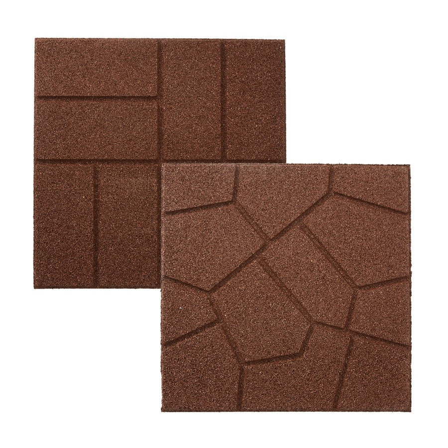 Rubberific Brown Rubber Paver Common 16 In X 16 In Actual 16 In X 16 In In The Pavers Stepping Stones Department At Lowes Com