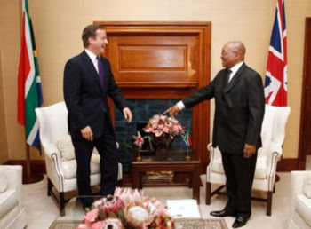 Cameron reuniu-se esta manhã com o Presidente sul-africano, Jacob Zuma