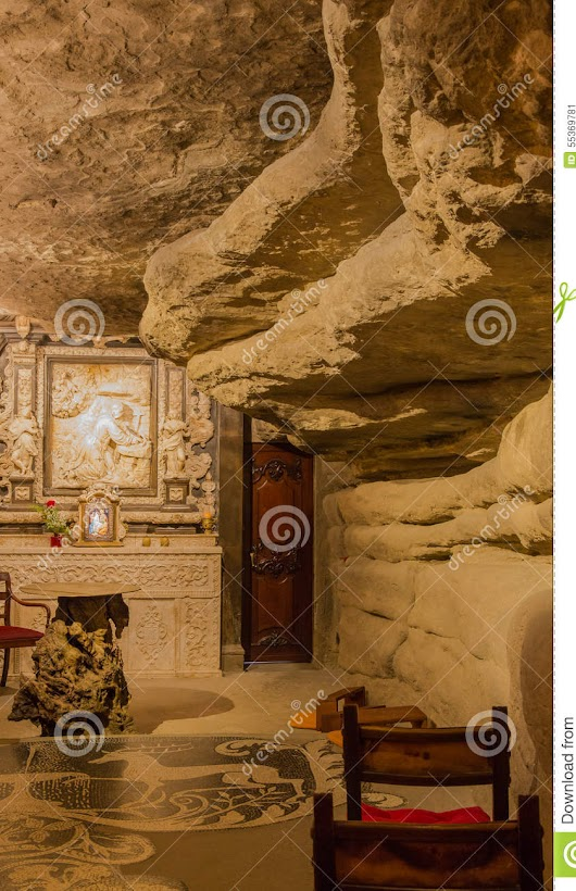 Saint Ignatius De Loyola Cave Stock Photo - Image: 55369781