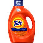 Tide Original Scent HE Turbo Clean Liquid Laundry Detergent, 64 Loads - 100 fl oz jug