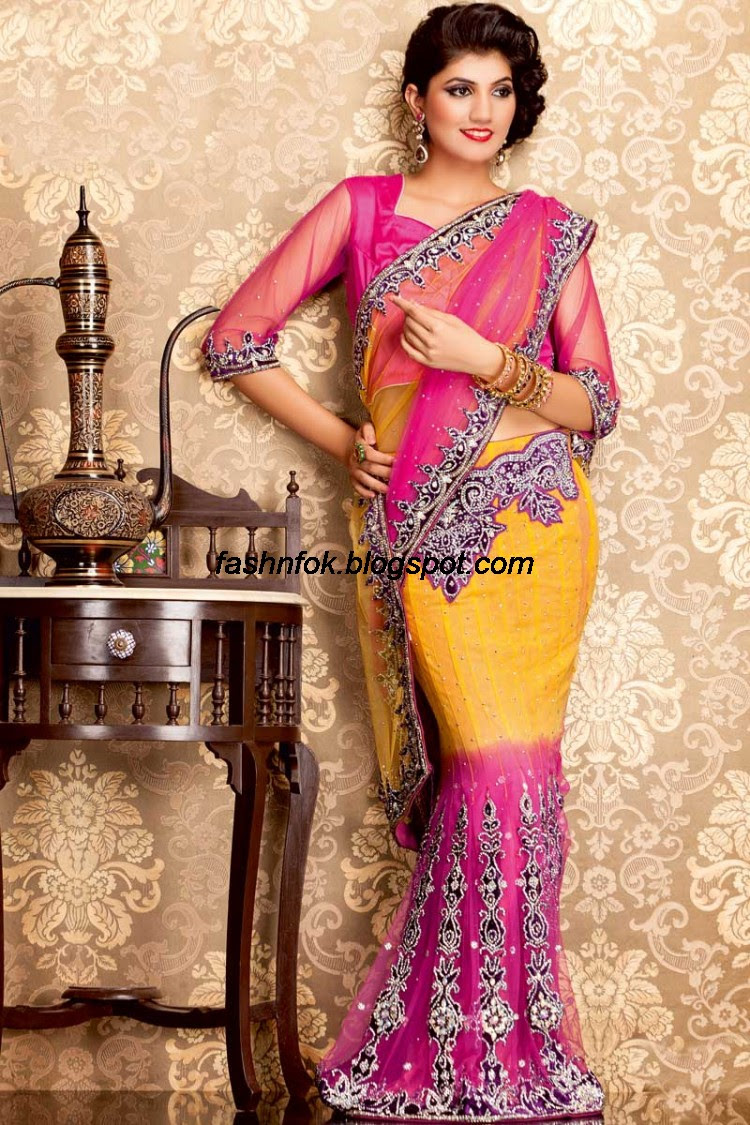 Bridal-Wedding-Wear-Sari-Lehenga-Choli-Latest-Brides-Outfit-for-Girls-Women-2013-14