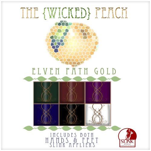 Wicked Peach Advert Elven Path Gold