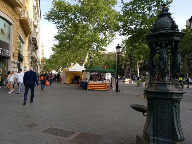 Montaje de paradas en paseo de Gràcia con Gran Via
