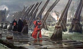 Siege of La Rochelle 1881 Henri Motte 1846 1922.jpg