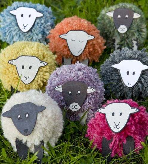 Sheep pompoms - ooh this is a great idea!