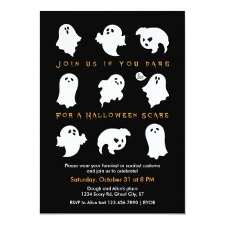 Halloween Ghosts Costume Party Invitation