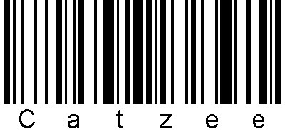 Catzee's very own barcode.