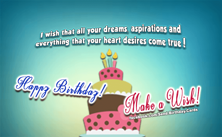 Make A Wish Birthday Cards Happy Birthday Images