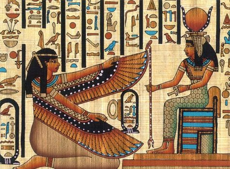 http://www.bbc.co.uk/history/ancient/egyptians/akhenaten_01.shtml    http://www.historylink101.net/egypt_1/gods_introduction.htm    cleopatra is shown with the goddess isis in the photo    CLEOPATRA by Dorothy and Thomas Hoobler  CLEOPATRA AND THE EGYPTIANS by Andrew Langley