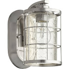 Quorum 5464-1-65 1 Light Ellis Satin Nickel Wall Sconce