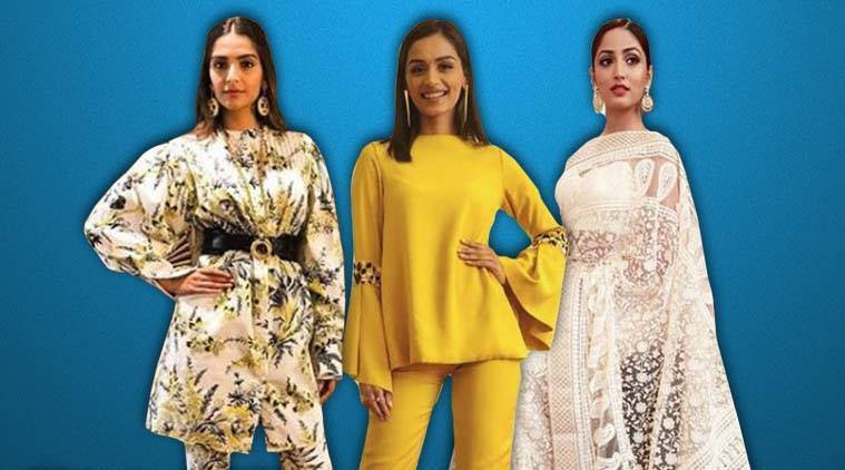 Bollywood fashion, celeb fashion, Manushi Chhillar, Sonam Kapoor, Kareena Kapoor Khan, Yami Gautam, indian express, indian express news