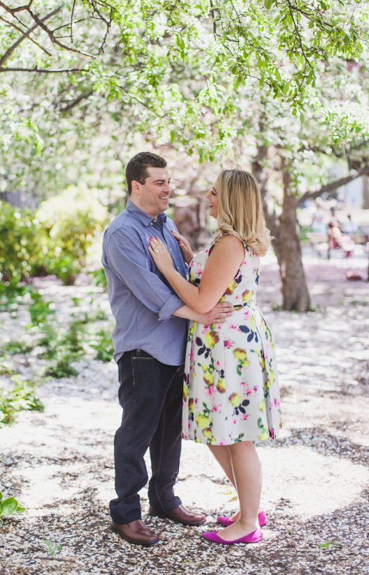 Washington Square Park Engagement Session, New York City - Richelle and Jay