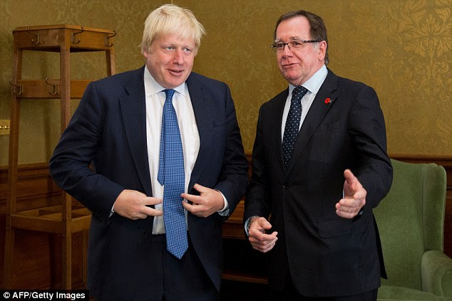 Foreign Secretary Boris Johnson and New Zealand Foreign Secretary Murray McCully