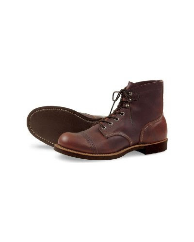 Red Wing Mens Iron Ranger Amber Harness Work Boot - 4 D