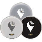 TrackR Pixel Bluetooth Tracking Device, Black/White/Silver - 3 pack