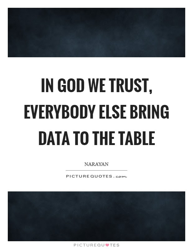 In God We Trust Everybody Else Bring Data To The Table Picture Quotes