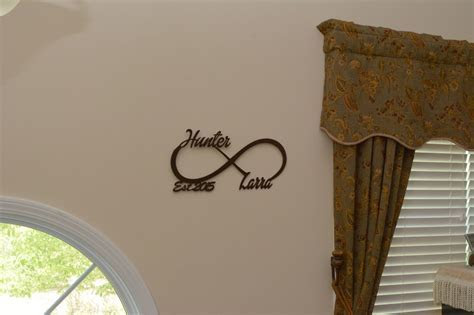 Personalized Infinity Love Symbol with First Names and