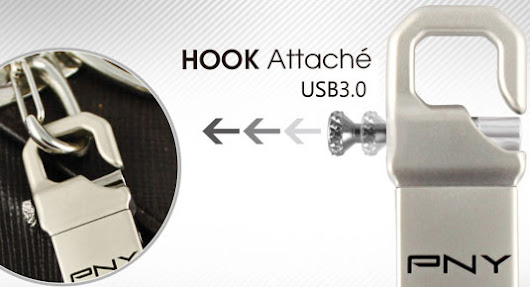 PNY releases USB Drive 3.0 the Hook Attaché and Wave Turbo